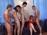 4 Jungs ficken russische Mutter