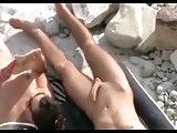 Strand Voyeur filmt fickende Paare